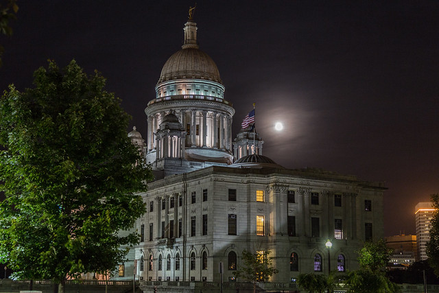 Super Moon Rhode Island State House