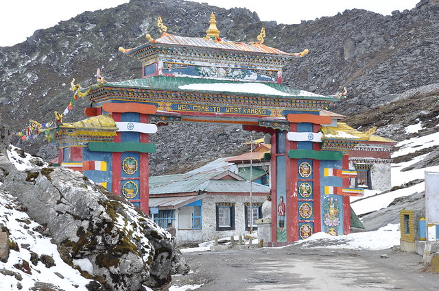 Be welcomed and blessed under the colourful portal - The easternmost part of the Indian Himalayan range - most high peaks lie on the McMahon Line, the international border between India and China.