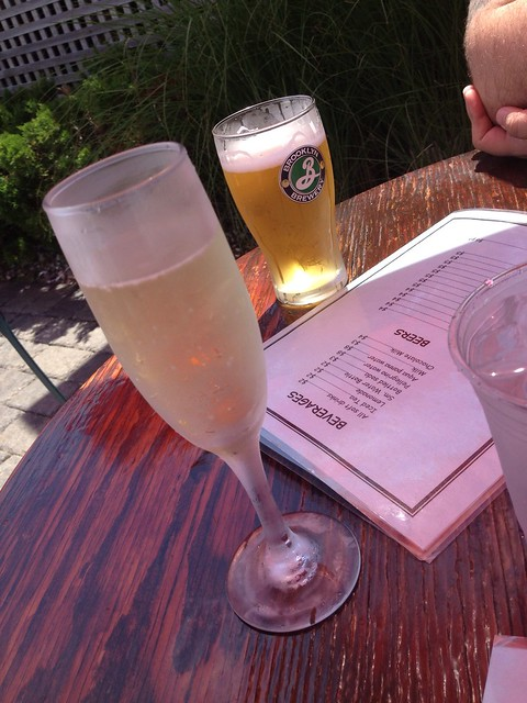 Prosecco and Brooklyn summer at Canal Cafe