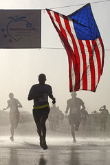 U.S. service members participate in the AJC Peachtree Road Race to celebrate the 4th of July [Image 1 of 3]