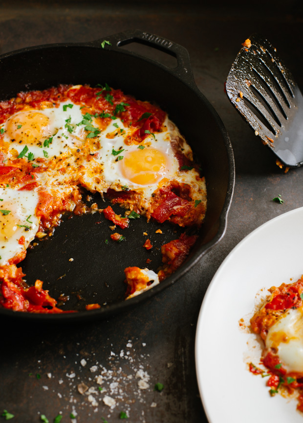 Poached Eggs in Tomatoes Sauce