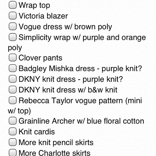 My fall #sewing project list has begun