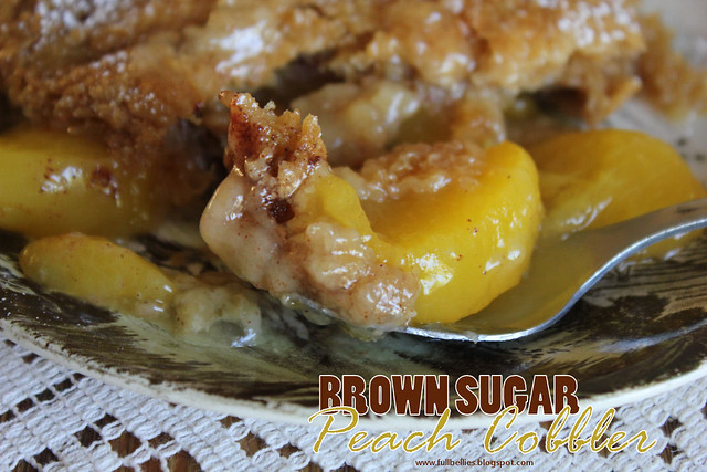 Brown Sugar Peach Cobbler