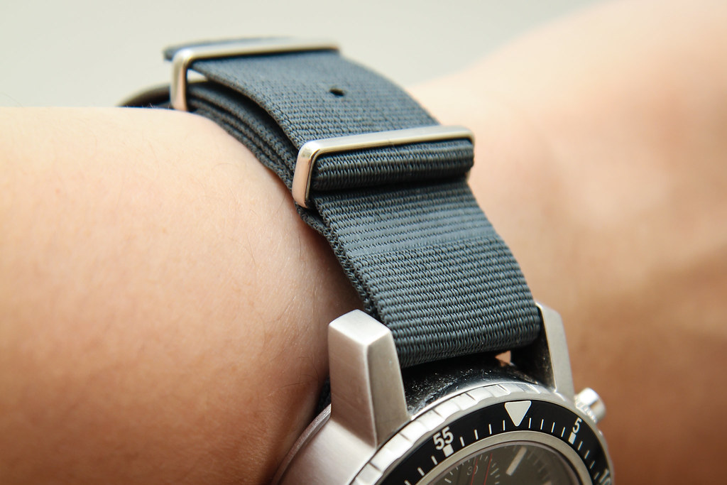 Phoenix NATO G10 watch strap in Admiralty Grey #2