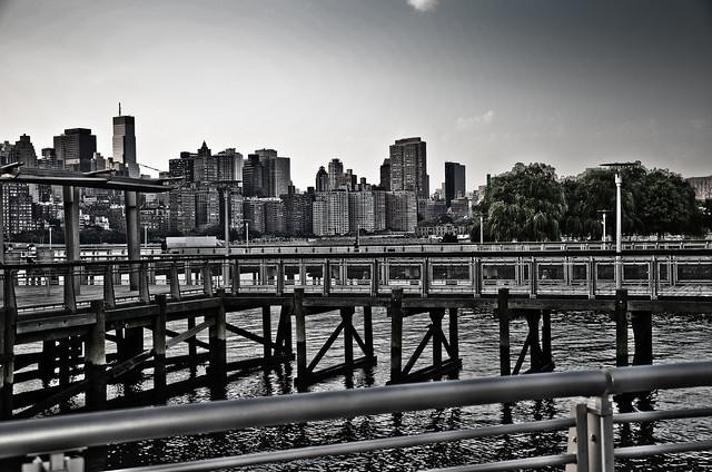 New York City Skyline taken fron Gantry State Park, Queens, NYC