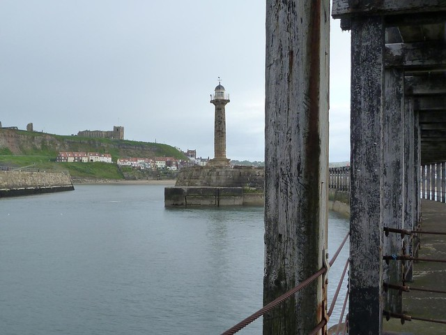 Whitby harbour from fishing pier