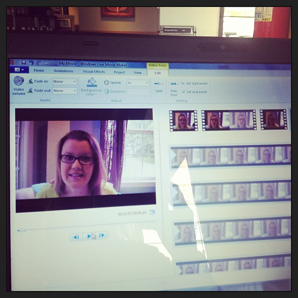 Video editing for #ExploreYou. (10 days left!) #selfie #sorta #augustbreak2013