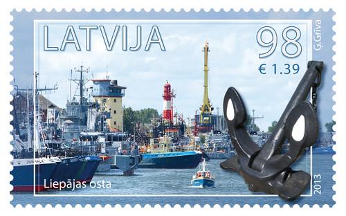 """""""Latvijas Pasts"""" papildina pastmarku sēriju """"Latvijas ostas"""""""