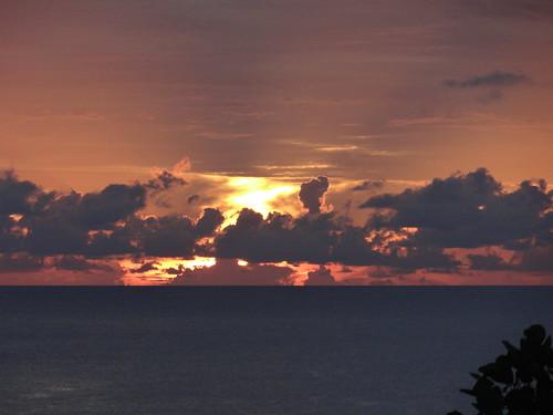 vacation sunrise thailand island paradise tropics kotao firey