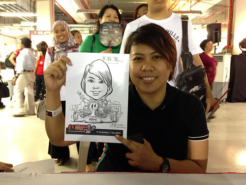 caricature live sketching for NTUC U Grand Prix Experience 2013 - 38