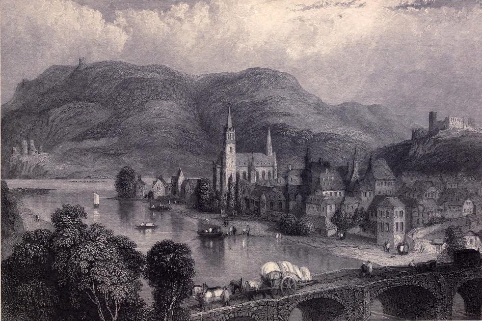 5. Bingen y puente sobre el Rin. Boceto de Clakson Standfield. 1833. Autor, Ayacata7