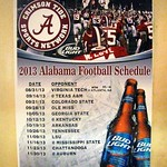 2013 Alabama Football Schedule