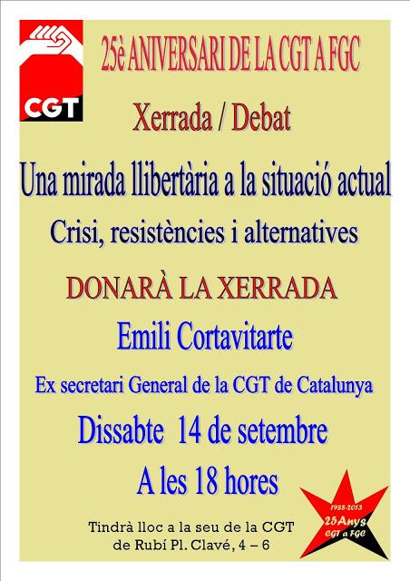 Xerrada-debat a Rubí: una mirada llibertària a la situació actual, amb Emili Cortavitarte