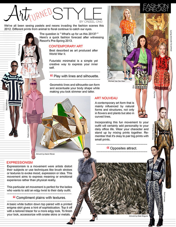 art turned style, zelanthropy, fashion forecast 2013