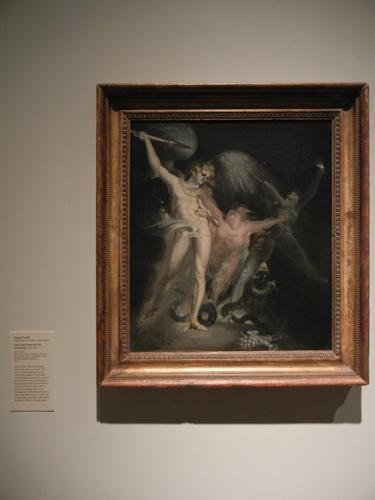 DSCN7942 _ Satan and Death with Sin  Intervening, 1799-1800, John Henry Fuseli (Johann Heinrich Fussli),  (1741-1825), LACMA