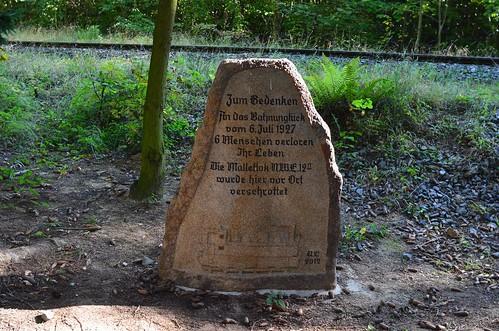Gedenkstein im Thumkuhlental