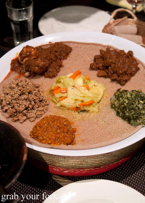 lentil curry misr wot kitffo beef doro wot chicken key wot lamb stew goman collard greens alicha curried vegetable stew Jambo Jambo Ethiopian African Restaurant Crows Nest
