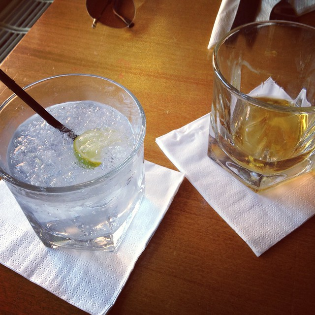 Instagram photo of gin and whisky