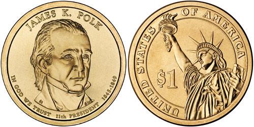 James K. Polk dollar coin
