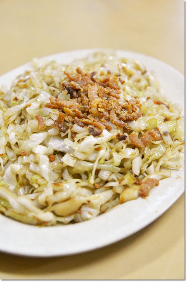 Stir Fried Cabbage with Dried Shrimps & Black Vinegar
