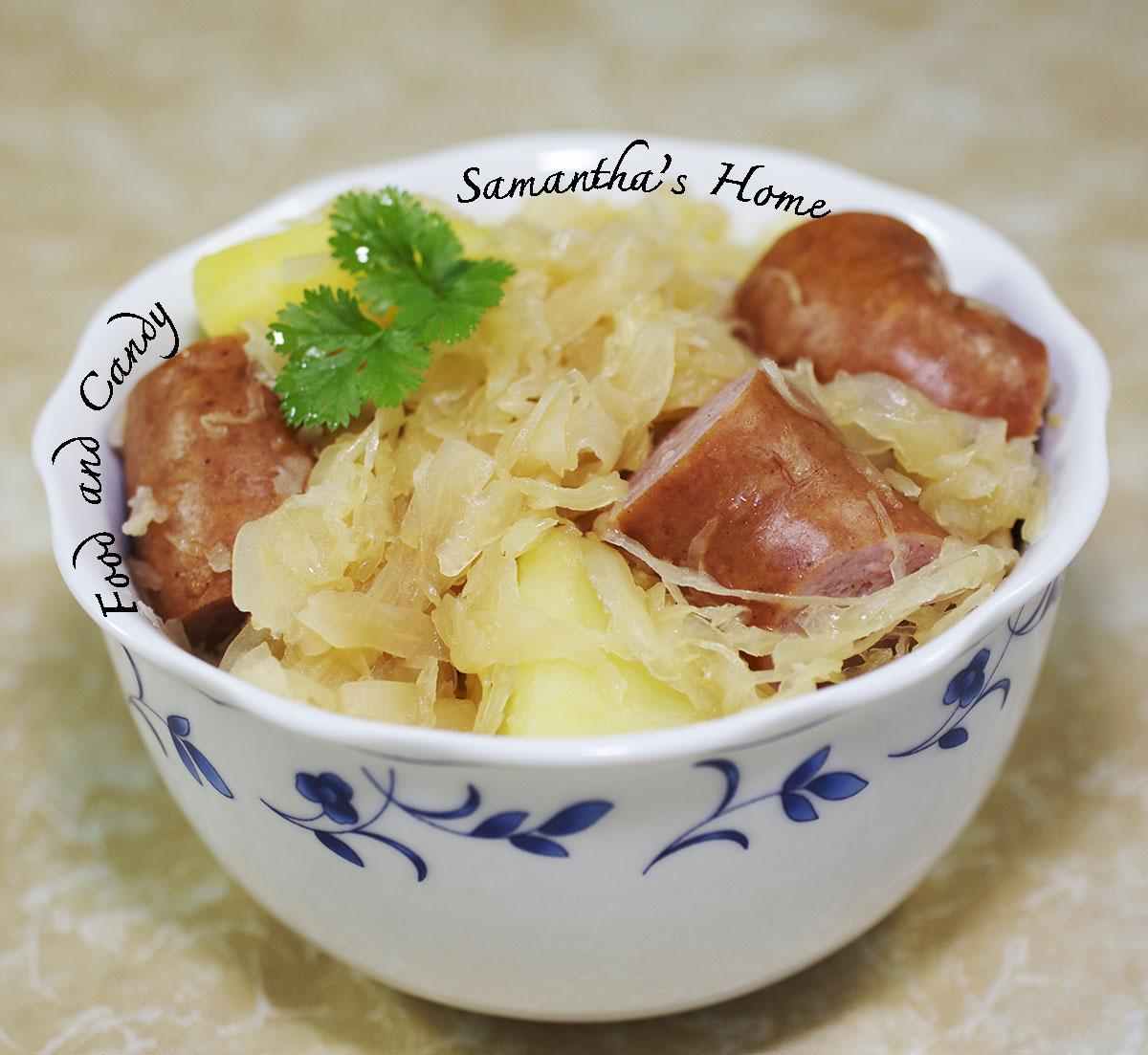 Bloggang น้องซาแมนต้า Sauerkraut Kochwürstchen Kartoffel