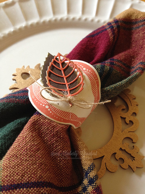 MFT Nov Preview Layered Leaves napkin ring by Kimberly Crawford