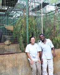 最大的籠舍,內部還可區隔,讓新進猴子逐漸適應群體生活。許惠婷攝