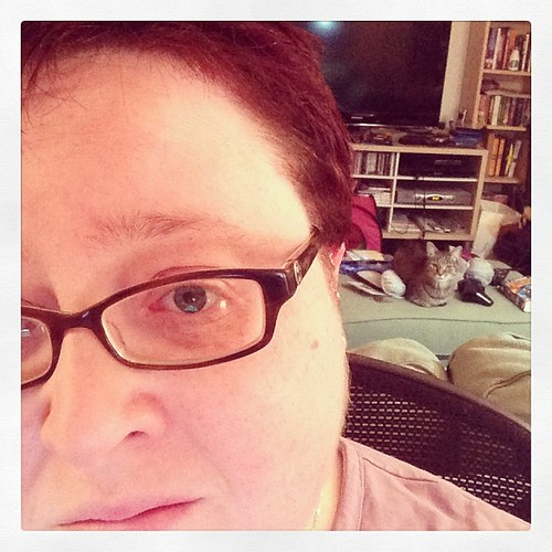 Selfie with cat. November 2013.