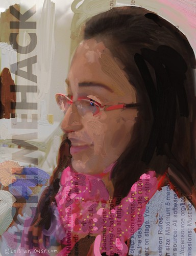 iPad Portrait of Aysegul Yonet at Chimehack at One Kings Lane by DNSF David Newman