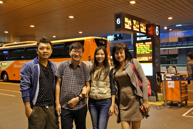 Dennis, Adrian, Irene and I at Narita Airport
