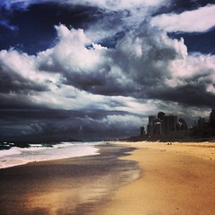 Some #cloudporn down south #beachwalk #beachlife #goldcoast