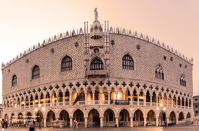 Panorama of the Doge's Palace at Dawn, Venice, Italy