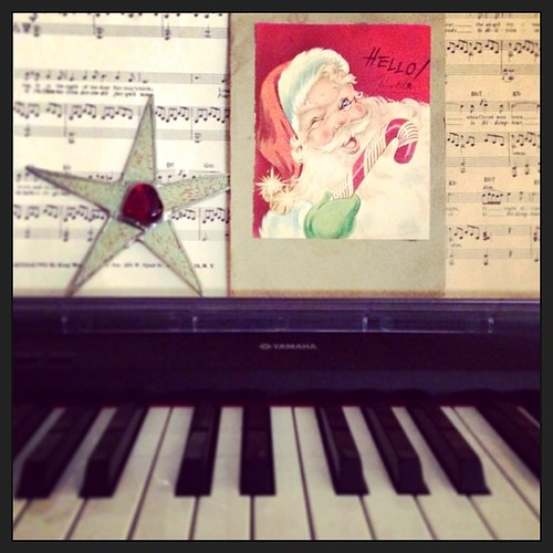 It's not Christmas without my grandmother's sheet music and handmade card