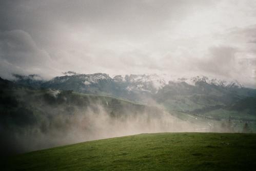 panorama film rain clouds analog 35mm schweiz switzerland fuji view cloudy superia wolken olympus chrome 200 vista xa aussicht expired fujichrome regen untitled moning hirschberg markusmoning appenzellinnerrhoden rüte
