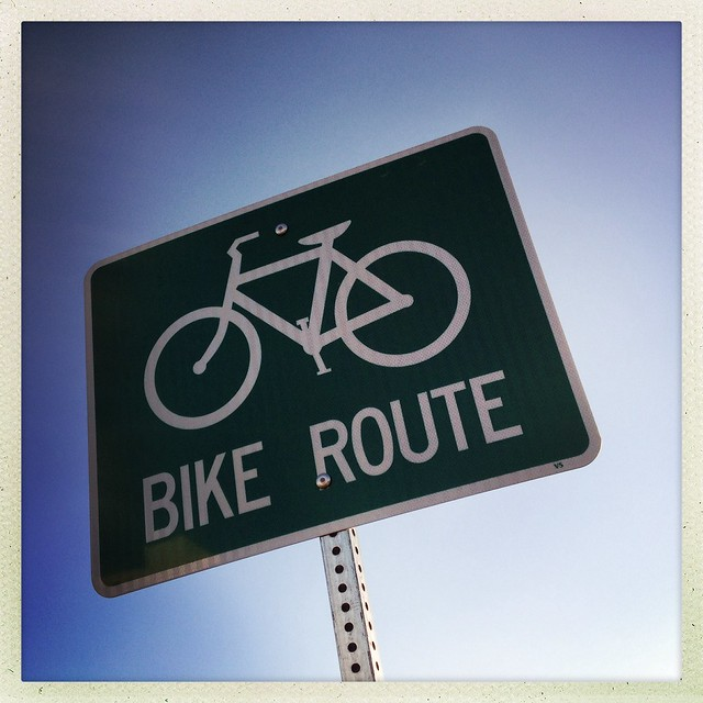 Bike Route Sign - Richardson, Texas