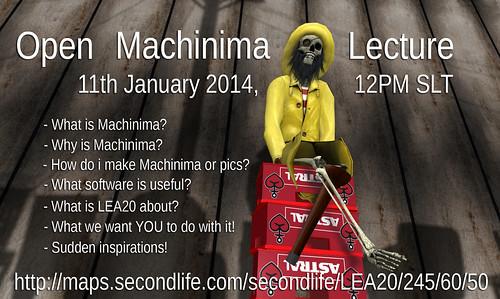 Open Machinima Lecture @ LEA20