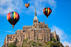 Hot Air Balloons of Mont Saint-Michel