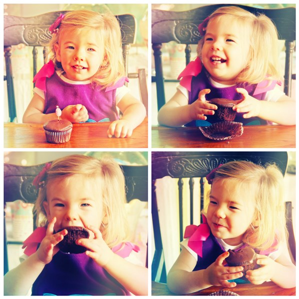 Baby Love Eating Her Paleo Cupcake