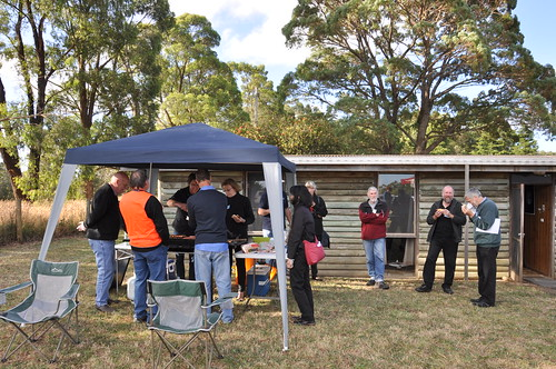 BBQ Underway at the Mount Burnett Observatory Open Day 2014