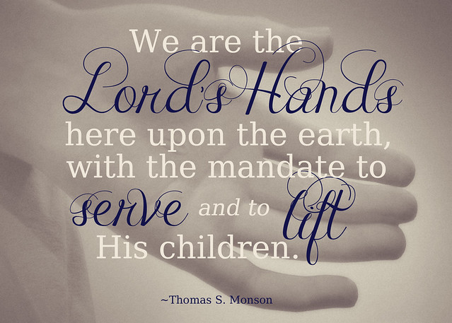 February 2014 Visiting Teaching Printable--We are the Lord's Hands