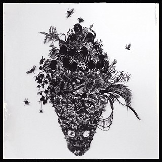 """Eros and Thantos"" Kako Ueda 2007 Hand cut black paper"
