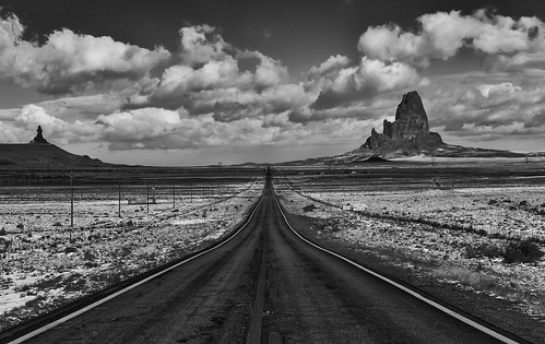 Winter Road to Monument Valley
