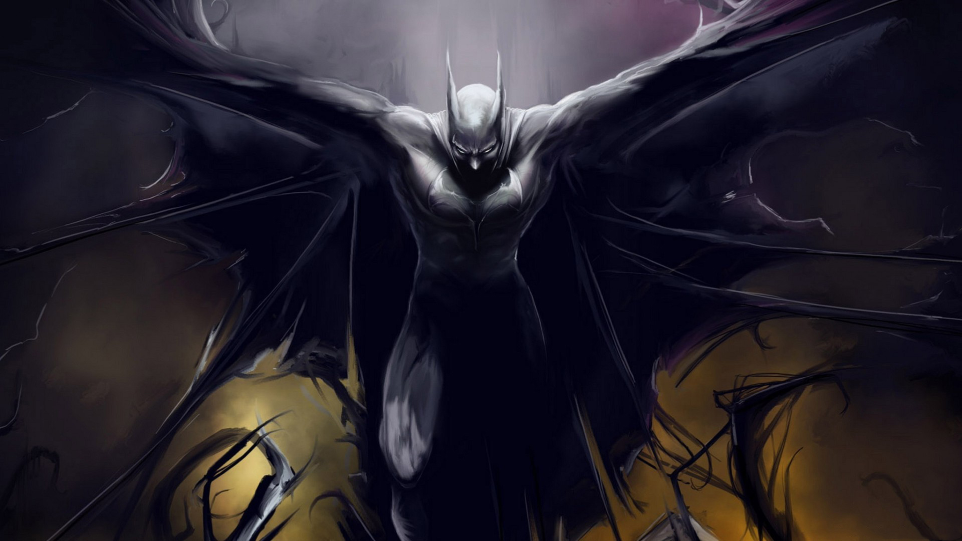 Dark Batman Artwork - Top 10 HD Batman Movie Desktop Wallpapers