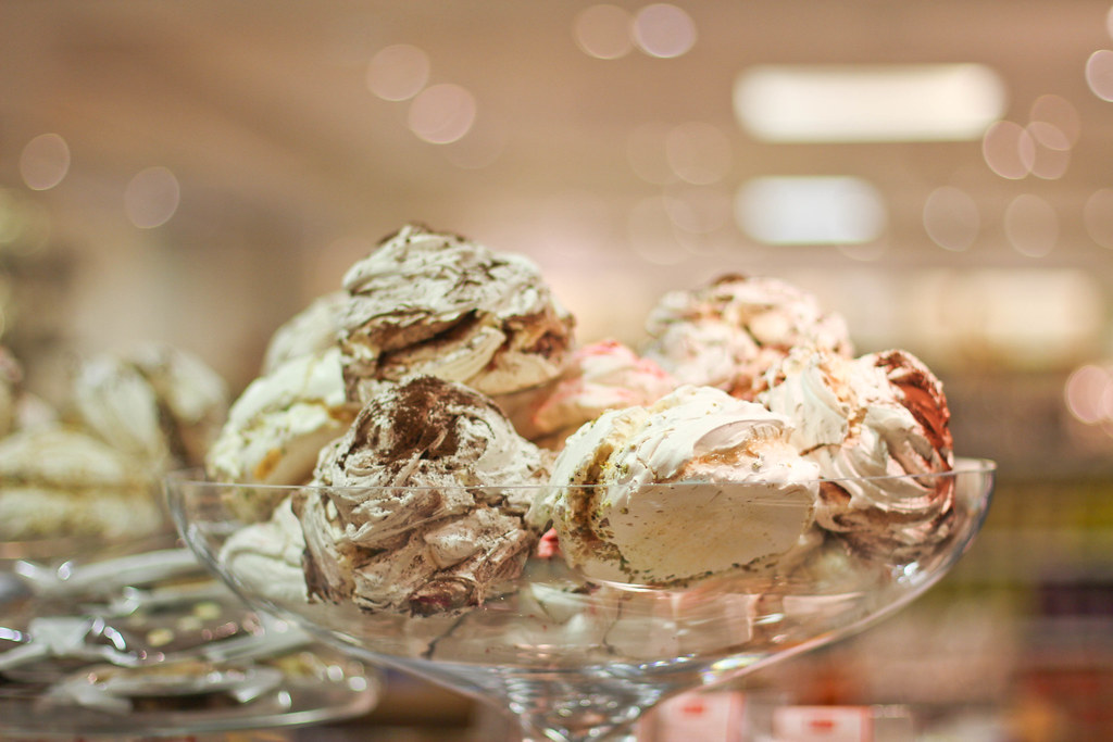 Meringue girls at Fortnum and Mason