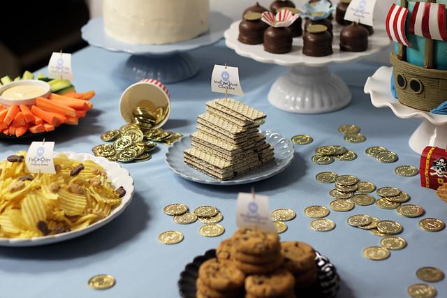 dessertbord piratparty
