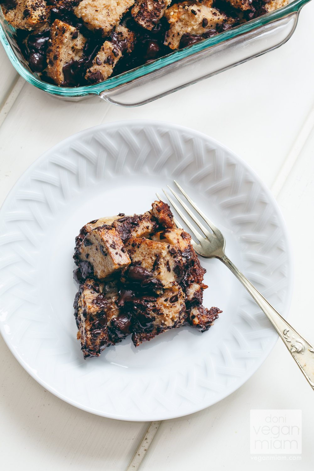 Chocolate Chunk Banana Bread pudding