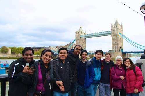 Blathnaid McCauley SSL (2nd from right) leading students across the Tower of London as part of the walk across London, called: Walk of Faith in the Footsteps of the English Martyrs
