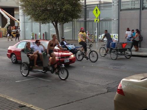 SXSW Pedi cabs