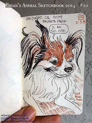 03-03-2014 #dailydrawing #animals San Diego Dog