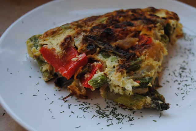 Asparagus and Caramelized Onion Fritatta